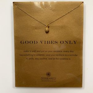 Good Vibes Only Dogeared gold filled necklace